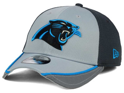 Carolina Panthers NFL Chase Gray Reflective 39THIRTY Cap Hats