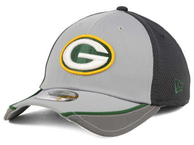 Green Bay Packers NFL Chase Gray Reflective 39THIRTY Cap Hats