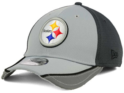 Pittsburgh Steelers NFL Chase Gray Reflective 39THIRTY Cap Hats