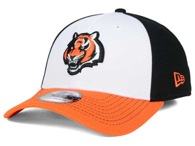 Cincinnati Bengals NFL Chase White Front Mesh 39THIRTY Cap Hats