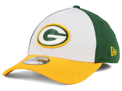 Green Bay Packers NFL Chase White Front Mesh 39THIRTY Cap Hats