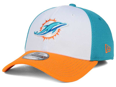 Miami Dolphins NFL Chase White Front Mesh 39THIRTY Cap Hats