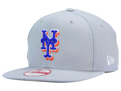 New York Mets MLB Gray Chase 9FIFTY Snapback Cap Hats