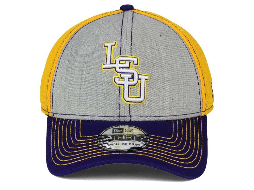 size 40 8faf0 fdf8a 50%OFF LSU Tigers New Era NCAA Heathered Neo 39THIRTY Cap