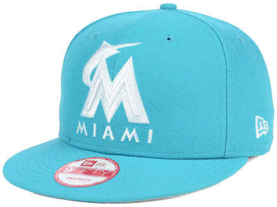 Miami Marlins MLB C-Dub 9FIFTY Snapback Cap Hats