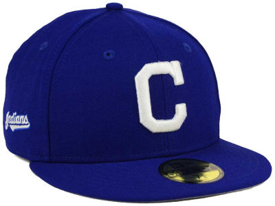 Cleveland Indians MLB C-Dub Patch 59FIFTY Cap Hats