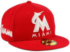Miami Marlins New Era MLB C-Dub Patch 59FIFTY Cap Fitted Hats