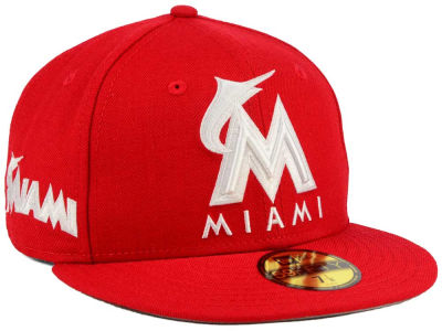 Miami Marlins MLB C-Dub Patch 59FIFTY Cap Hats