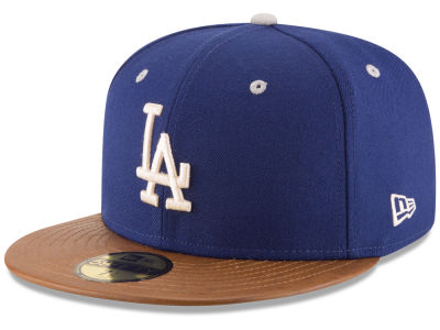 Los Angeles Dodgers MLB Leather Banner Patch 59FIFTY Cap Hats