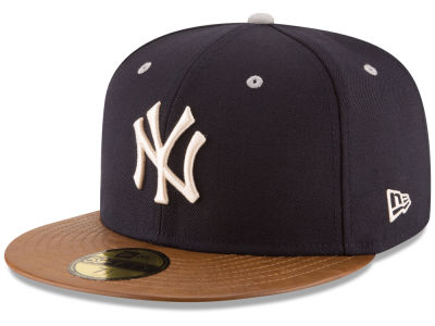 New York Yankees MLB Leather Banner Patch 59FIFTY Cap Hats