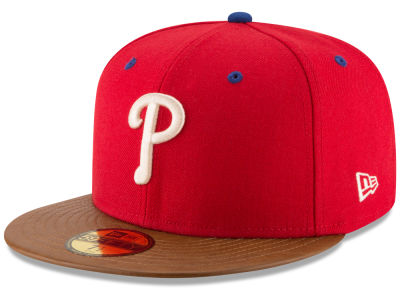 Philadelphia Phillies MLB Leather Banner Patch 59FIFTY Cap Hats