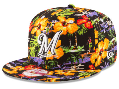 Milwaukee Brewers MLB Spring Time 9FIFTY Snapback Cap Hats