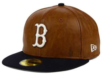 Boston Red Sox MLB So Leather 2-Tone 59FIFTY Cap Hats