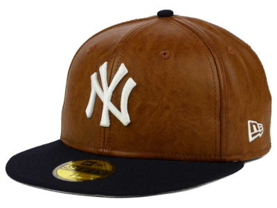 New York Yankees MLB So Leather 2-Tone 59FIFTY Cap Hats