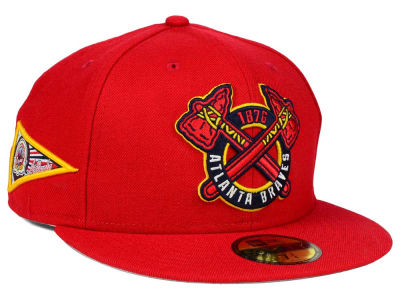 Atlanta Braves MLB Banner Patch 59FIFTY Cap Hats