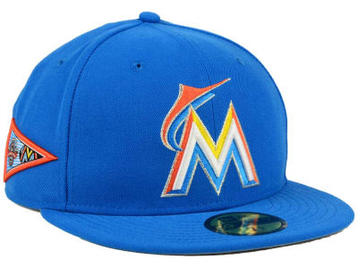 Miami Marlins MLB Banner Patch 59FIFTY Cap Hats