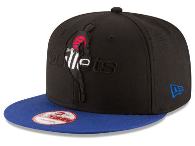 Washington Bullets NBA HWC Logoman Blackout 9FIFTY Snapback Cap Hats