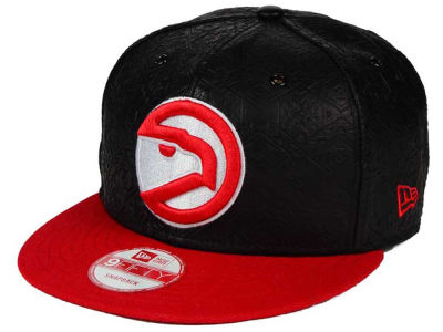 Atlanta Hawks NBA HWC Leather Tri-Boss 9FIFTY Snapback Cap Hats