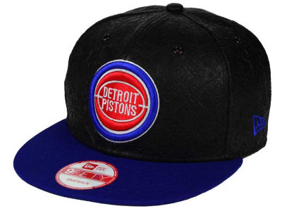 Detroit Pistons NBA HWC Leather Tri-Boss 9FIFTY Snapback Cap Hats