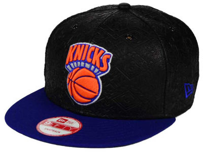New York Knicks NBA HWC Leather Tri-Boss 9FIFTY Snapback Cap Hats