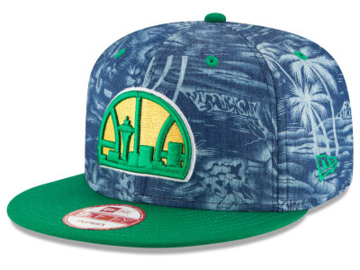 Seattle SuperSonics NBA HWC D-TROP 9FIFTY Snapback Cap Hats