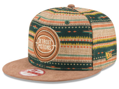 Detroit Pistons NBA HWC The Natural Print 9FIFTY Snapback Cap Hats