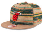 Miami Heat New Era NBA HWC The Natural Print 9FIFTY Snapback Cap Adjustable Hats