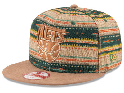 New Jersey Nets NBA HWC The Natural Print 9FIFTY Snapback Cap Hats