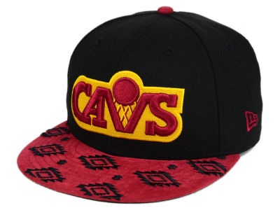 Cleveland Cavaliers NBA HWC Sueded Print 9FIFTY Snapback Cap Hats