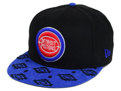 Detroit Pistons NBA HWC Sueded Print 9FIFTY Snapback Cap Hats