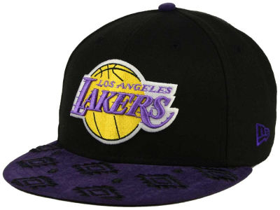 Los Angeles Lakers NBA HWC Sueded Print 9FIFTY Snapback Cap Hats