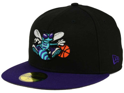 Charlotte Hornets NBA HWC Anniversary Patch 59FIFTY Cap Hats