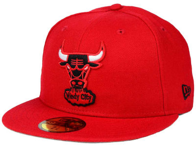 Chicago Bulls NBA HWC Anniversary Patch 59FIFTY Cap Hats
