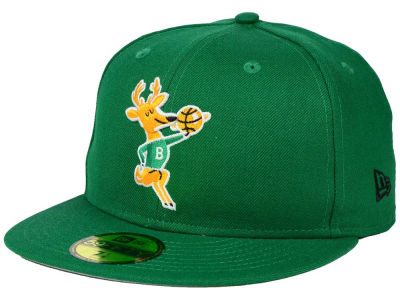 Milwaukee Bucks NBA HWC Anniversary Patch 59FIFTY Cap Hats