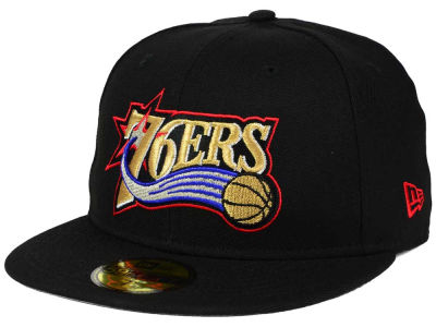 Philadelphia 76ers NBA HWC Anniversary Patch 59FIFTY Cap Hats