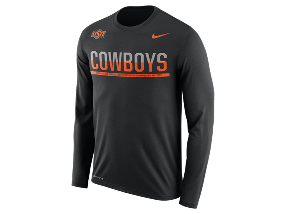 89bf899b hot sale 2017 Oklahoma State Cowboys Nike NCAA Men's Legend Staff Sideline  Long Sleeve T-