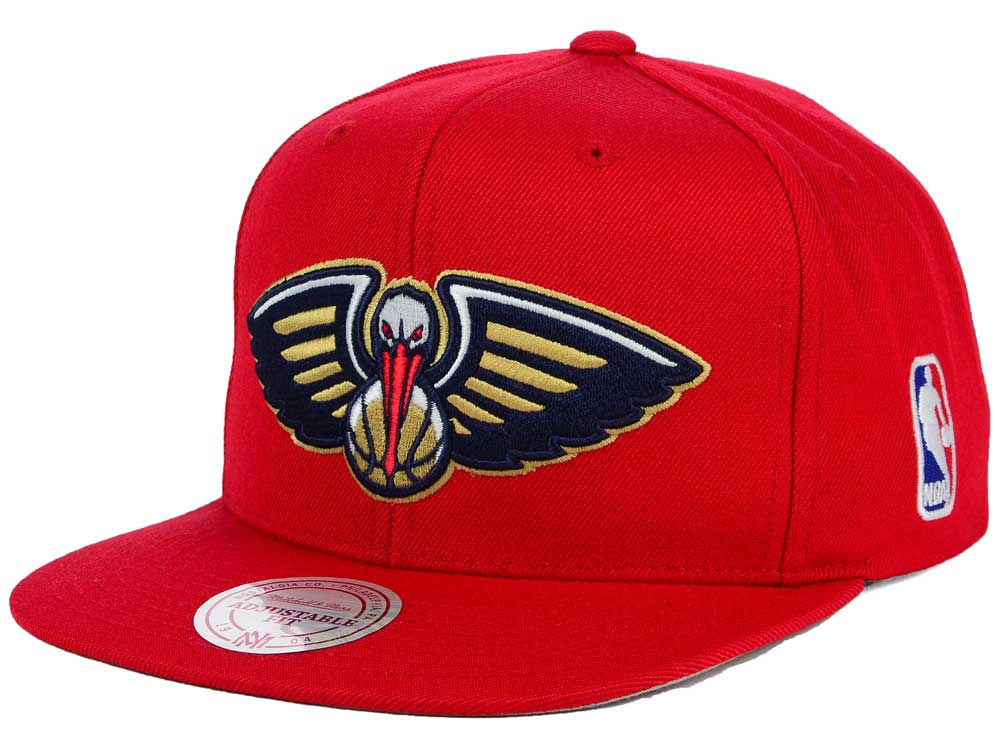 hot sale online ac8b7 af0e1 hot sale 2017 New Orleans Pelicans Mitchell and Ness NBA XL Logo Snapback  Cap