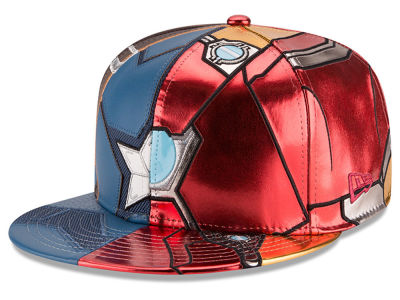 Marvel Captain America / Ironman Character Armor Civil War 59FIFTY Cap Hats