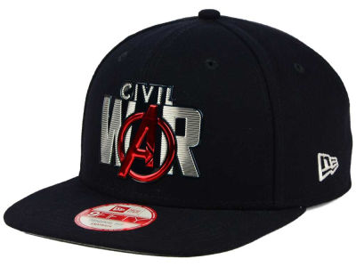 Marvel Captain America Title Chrome Civil War 9FIFTY Snapback Cap Hats