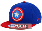 Marvel Captain America Jr Logo Grand 9FIFTY Snapback Cap Adjustable Hats