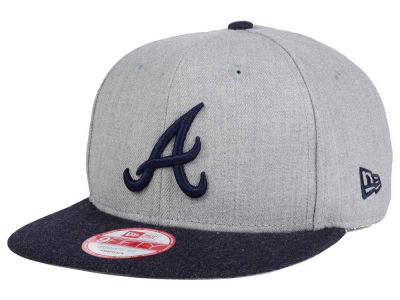 Atlanta Braves MLB Heather 2 Tone 9FIFTY Snapback Cap Hats