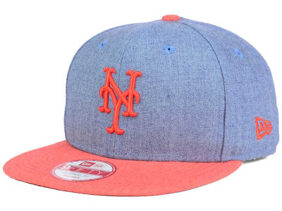 New York Mets MLB Heather 2 Tone 9FIFTY Snapback Cap Hats
