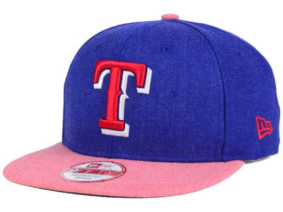 Texas Rangers MLB Heather 2 Tone 9FIFTY Snapback Cap Hats