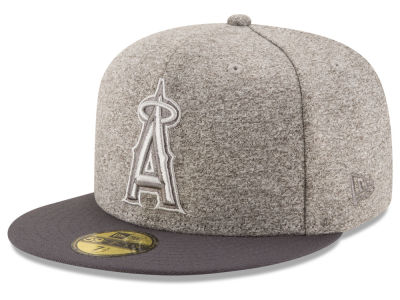 Los Angeles Angels MLB Shady Gray 59FIFTY Cap Hats
