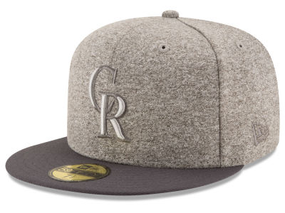 Colorado Rockies MLB Shady Gray 59FIFTY Cap Hats