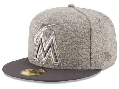 Miami Marlins MLB Shady Gray 59FIFTY Cap Hats