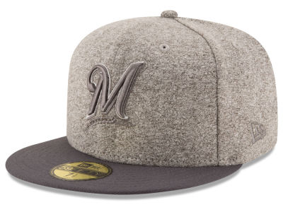 Milwaukee Brewers MLB Shady Gray 59FIFTY Cap Hats