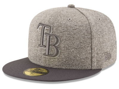 Tampa Bay Rays MLB Shady Gray 59FIFTY Cap Hats
