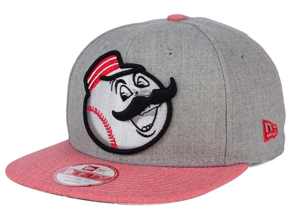 the best attitude 1ebfc e1bba 50%OFF Cincinnati Reds New Era MLB Heather 2 Tone 9FIFTY Snapback Cap