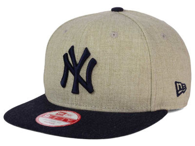New York Yankees MLB Heather 2 Tone 9FIFTY Snapback Cap Hats